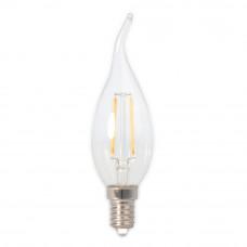 Лампа светодиодная филамент (Filament) свеча на ветру С35TA Е14 3 Вт. прозрачная
