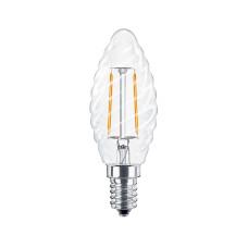 Лампа светодиодная филамент (Filament) свеча витая С35TW Е14 3 Вт. прозрачная