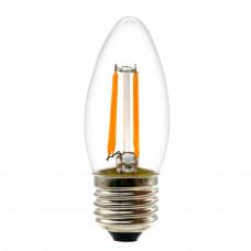 Лампа светодиодная филамент (Filament) свеча С35 Е27 5 Вт. прозрачная