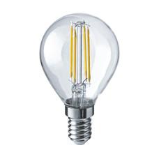 Лампа светодиодная филамент (Filament) G45 Е14 5 Вт. прозрачная