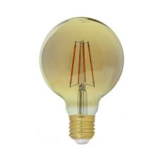 Лампа светодиодная G95 E27 230V 3000K 6W bronze - Strong Led Light