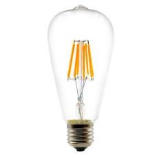 Лампа светодиодная филамент (Filament) ST58 Е27 6 Вт. прозрачная