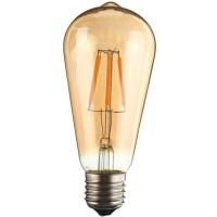 Лампа светодиодная ST64 E27 230V 3000K 6W bronze