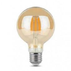 Лампа светодиодная G80 E27 230V 3000K 6W bronze
