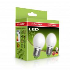 """Промо-набір EUROLAMP LED Лампа ЕКО серія """"Е"""" G45 5W E27 3000K акція 1+1"""
