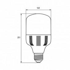 EUROLAMP LED Лампа надпотужна 70W E40 6500K