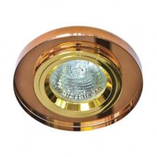 Встраиваемый светильник Feron 8060-2 коричневый золото 20087