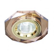 Встраиваемый светильник Feron 8020-2 коричневый золото 20106