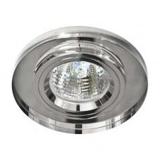 Встраиваемый светильник Feron 8060-2 серебро серебро 20116