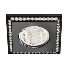 Встраиваемый светильник Feron DL102-BK прозрачный черный 28447