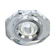 Встраиваемый светильник Feron 8020-2 серебро серебро 20084
