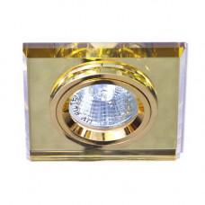 Встраиваемый светильник Feron 8170-2 желтый золото 20091