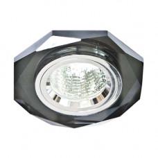 Встраиваемый светильник Feron 8020-2 серый серебро 20107