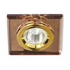 Встраиваемый светильник Feron 8170-2 коричневый золото 20092