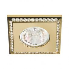 Встраиваемый светильник Feron DL102-C прозрачный золото 28374