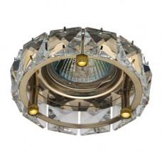 Встраиваемый светильник Feron CD4525 прозрачный золото 28192