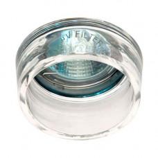 Встраиваемый светильник Feron CD2720 прозрачный хром 28185