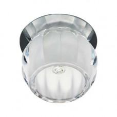 Встраиваемый светильник Feron JD92 прозрачный матовый хром 28271