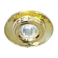 Встраиваемый светильник Feron 8050-2 желтый золото 20110