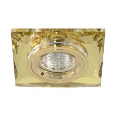 Встраиваемый светильник Feron 8150-2 желтый золото 20122