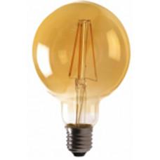 Лампа светодиодная G95 E27 230V 3000K 6W bronze