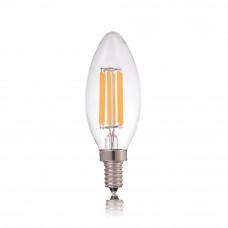Лампа светодиодная филамент (Filament) свеча С35 Е14 2 Вт. прозрачная