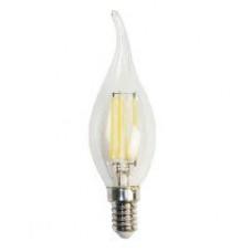 Лампа светодиодная филамент (Filament) свеча на ветру С35TA Е14 2 Вт. прозрачная