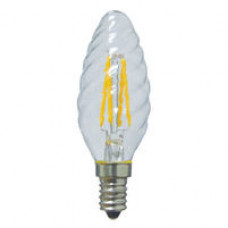 Лампа светодиодная филамент (Filament) свеча витая С35TW Е14 2 Вт. прозрачная