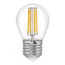 Лампа светодиодная филамент (Filament) G45 Е27 4 Вт. прозрачная